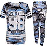Girls New York Brooklyn 98 Athletic Camouflage T-Shirt TOP Legging Two Piece Set 7-13