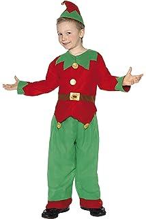 Smiffys Disfraz de elfo, Verde, con parte de arriba, pantalón y gorro