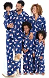 PajamaGram Family Matching Christmas Pajamas - Cozy Fleece, Navy Polar Bear