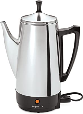 Presto 02811 12-Cups Stainless Steel Coffee Maker