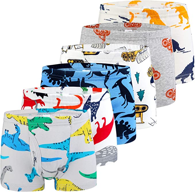 Mens Soft Breathable Dinosaur Wall Decor Yellow Underwear Boxer Briefs