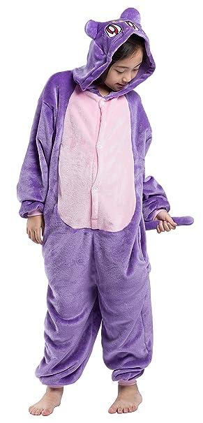 Pijama Disfraz Gato Niño Niña Animal Mono Jumpsuit Cuerpo Entero Mujer Familiar Navidad Halloween Cosplay