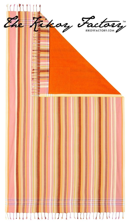 Kikoy Factory - Toalla de playa / Pareo - Toalla de baño - Kikoy Towel 13281A22 - Color : Orange - Tamaño : 95 x 165 cms: Amazon.es: Hogar