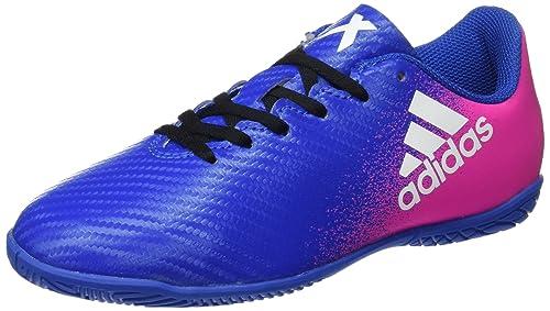 adidas X 16.4 IN J, Zapatillas de fútbol Sala Unisex niño, (Azul/Ftwbla/Rosimp) 000, 35 EU: Amazon.es: Zapatos y complementos