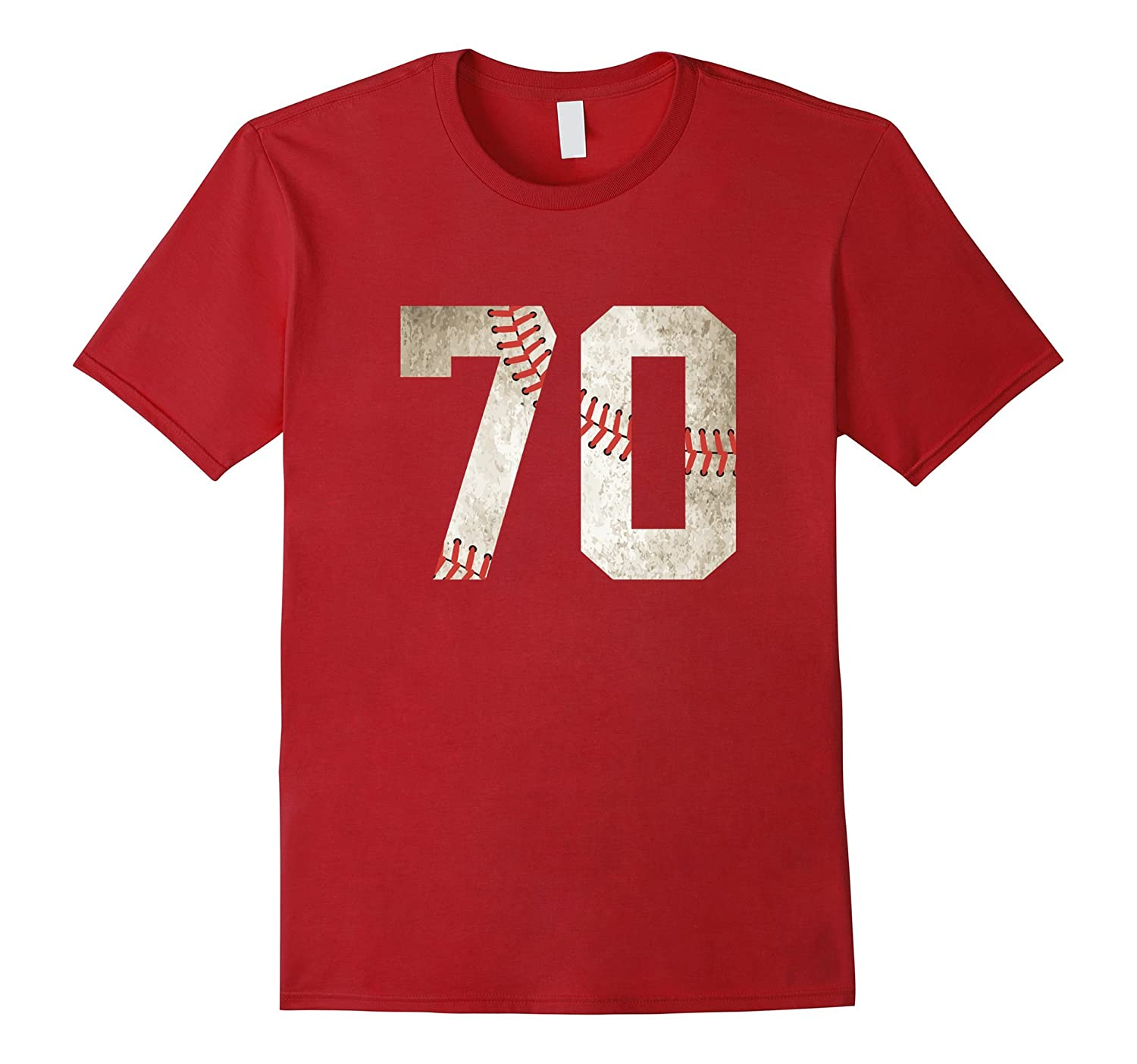 70 Baseball Jersey Number T-Shirt for Team Fan Player #70-Art