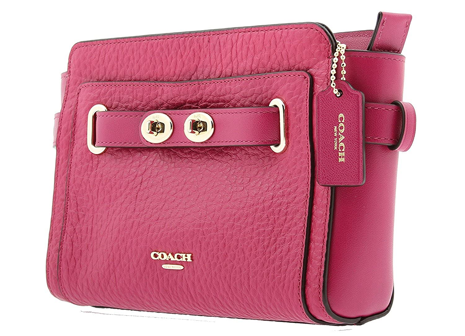 coach bubble leather blake crossbody cranberry handbags amazon com rh amazon com