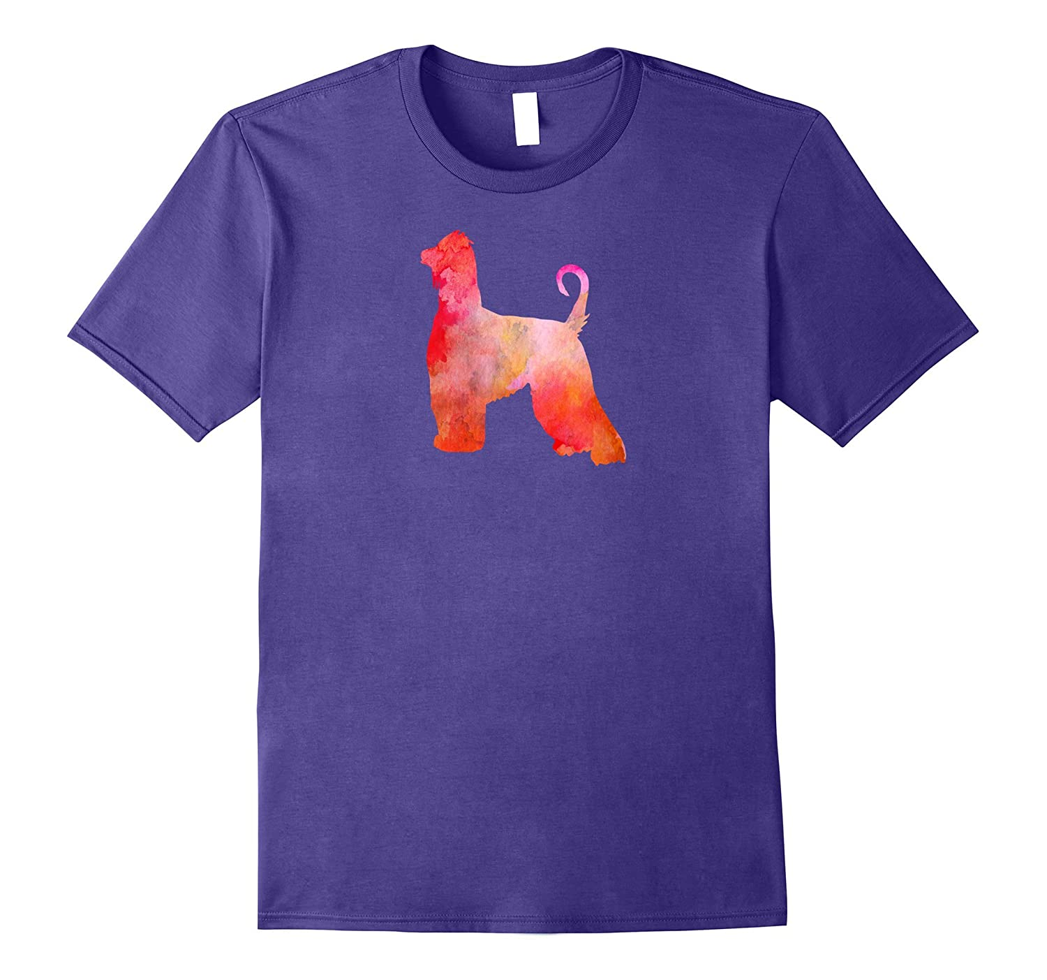 Afghan Hound Watercolor Painting T-Shirt-Art