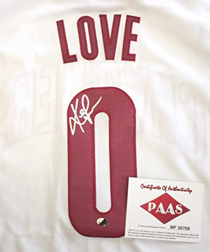 best loved b2611 d613b Kevin Love Cleveland Cavaliers Cavs Signed Autographed White ...
