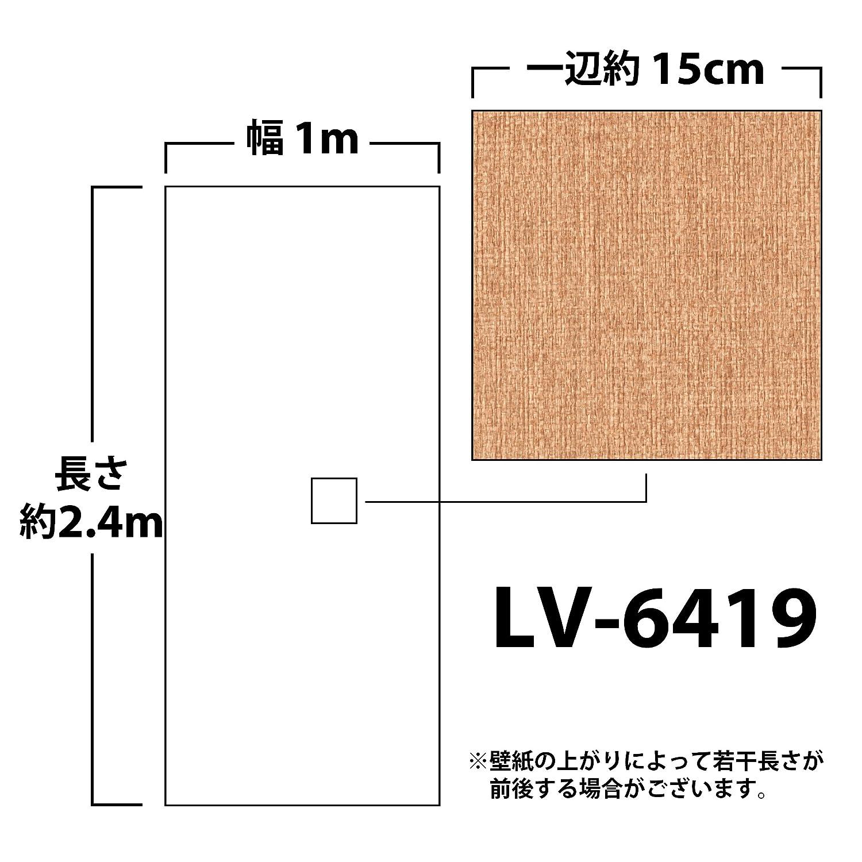 リリカラ 壁紙46m 和 織物調 ベージュ 和調 LV-6419 B01IHRYXSM 46m|ベージュ