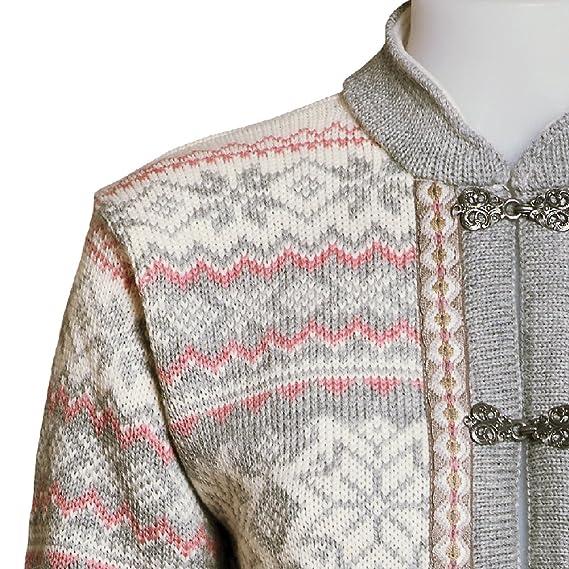 Norlender Noruega 100% lana Voss Cardigan Sweater W libre 100% lana Cap -  Gris -  Amazon.es  Ropa y accesorios b9935e71d32b