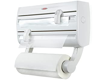 Leifheit Comfortline Parat F2 Kitchen Foil And Cling Film Wall Mounted Roll  Holder Plastic White