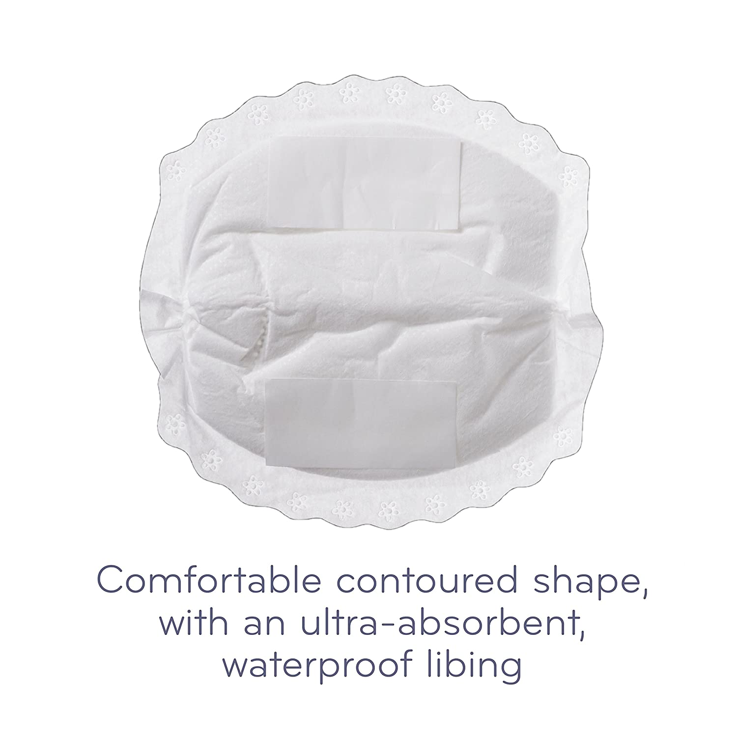 Nuby Natural Touch Disposable Breast Pads 50 Pads Black and White