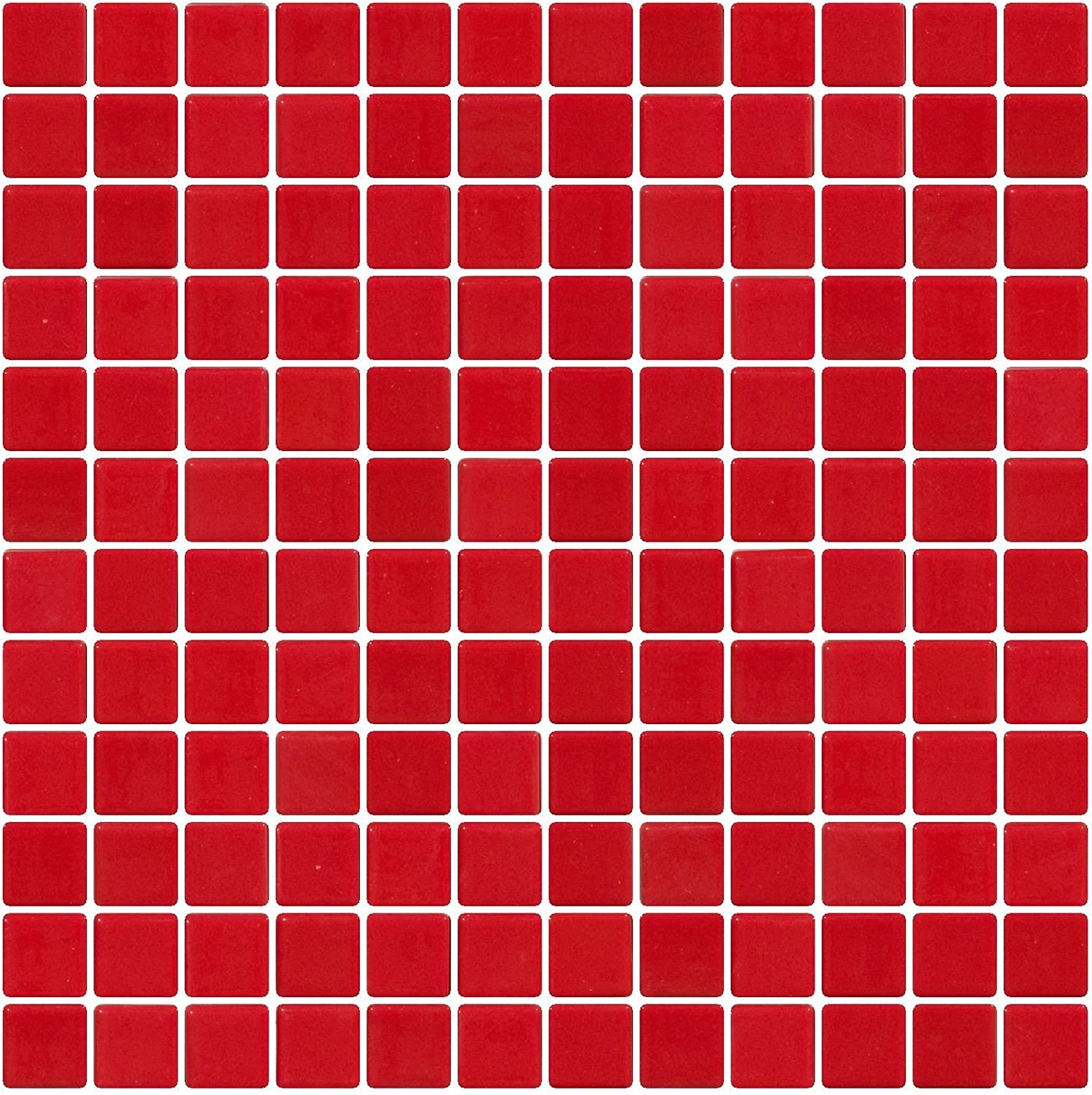 1 Inch Red Recycled Glass Tile Susan Jablon Mosaics