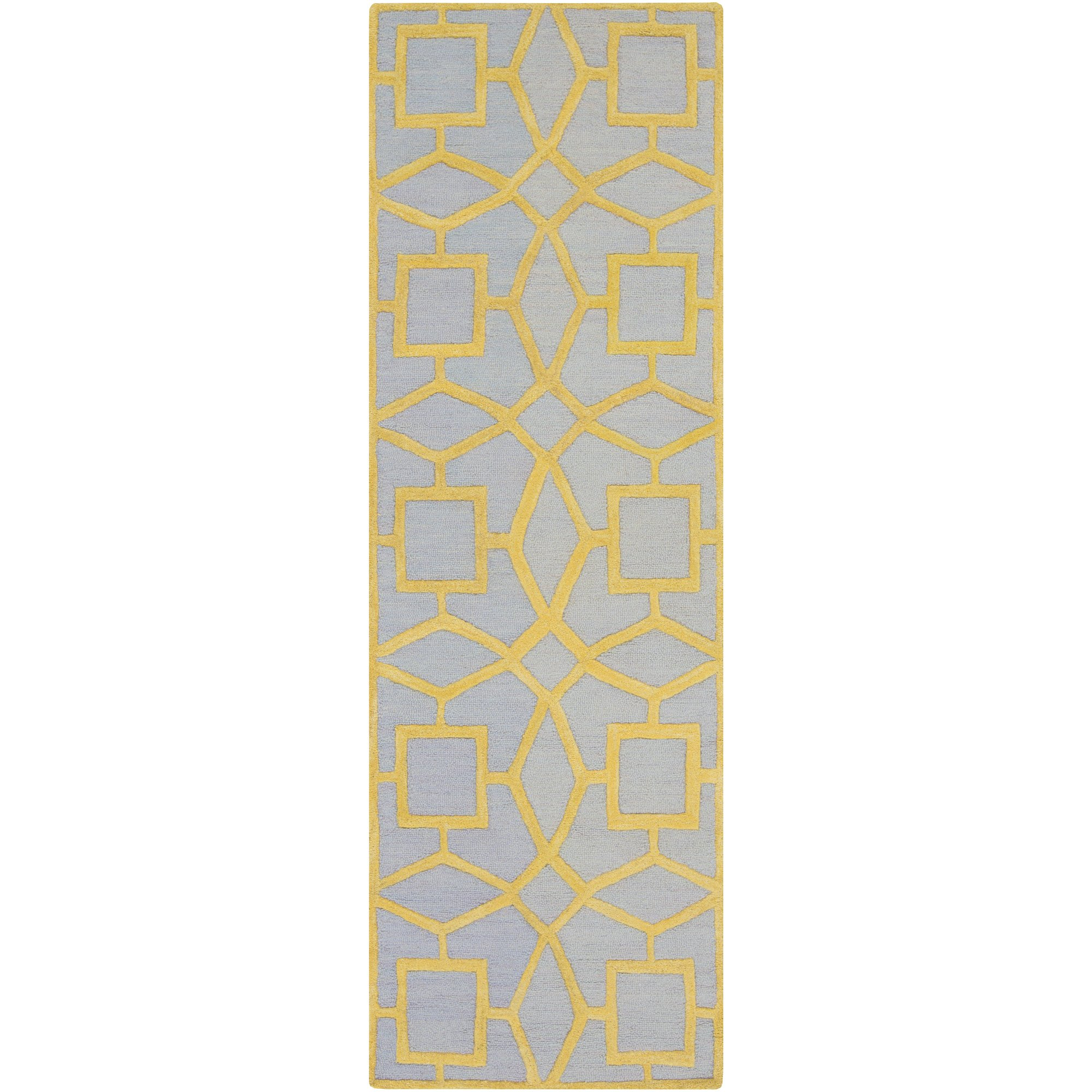Surya Dream DST-1173 Hand Tufted 100-Percent New Zealand Wool Geometric Runner Rug, 2-Feet 6-Inch by 8-Feet