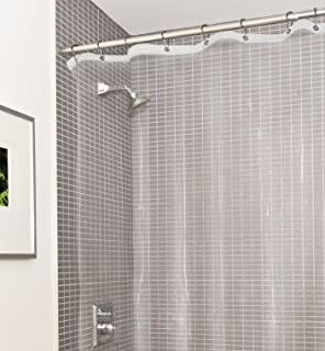 Perfect Estilo Heavy Duty Clear No More Mildew PVC Shower Curtain Liner, Premium 10  Gauge