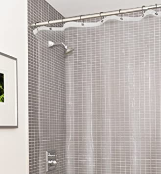 Estilo Heavy Duty Clear No More Mildew PVC Shower Curtain Liner Premium 10 Gauge