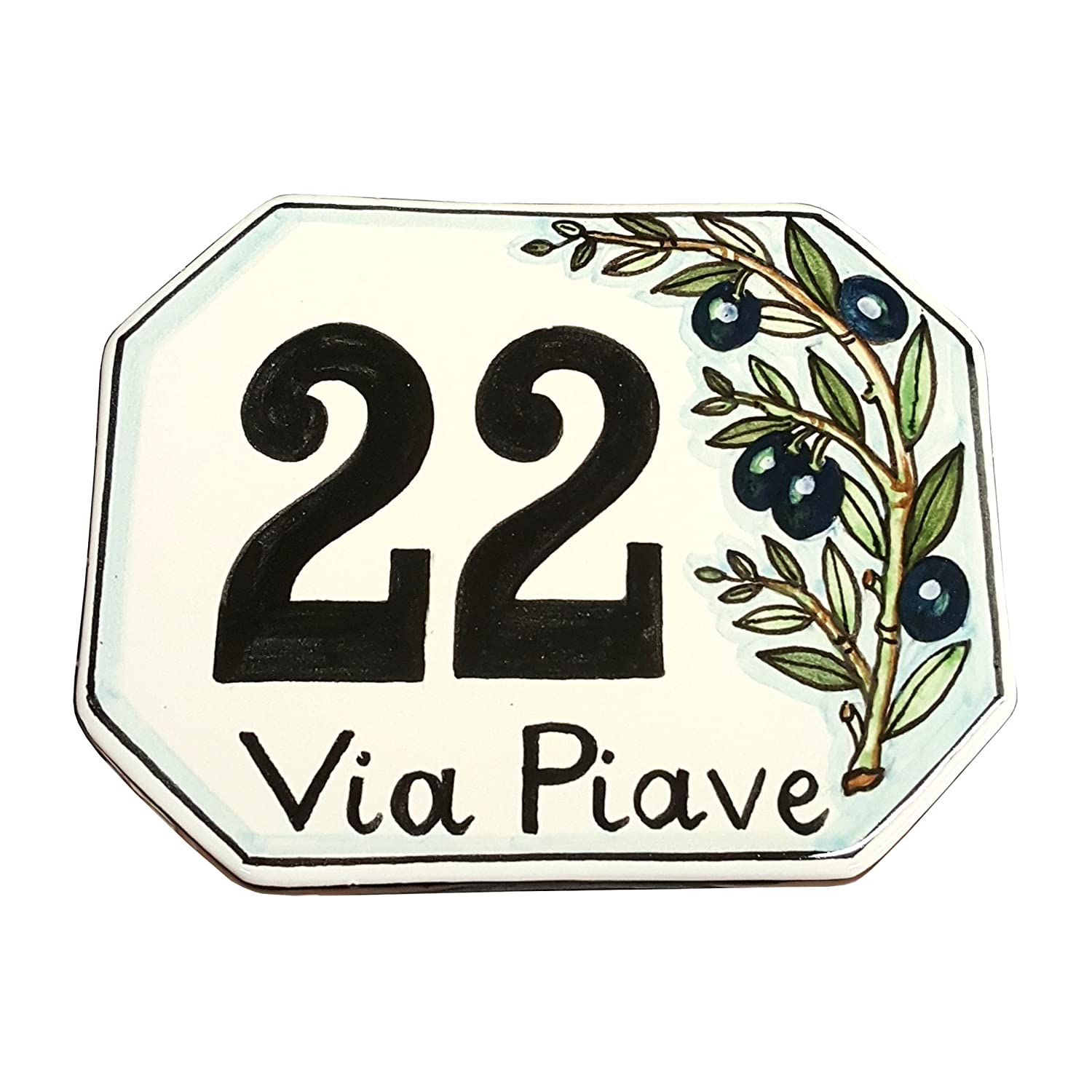 Amazon ceramiche darte parrini italian ceramic art pottery amazon ceramiche darte parrini italian ceramic art pottery tile custom house number civic address plaques decorated olive hand painted made in italy dailygadgetfo Images