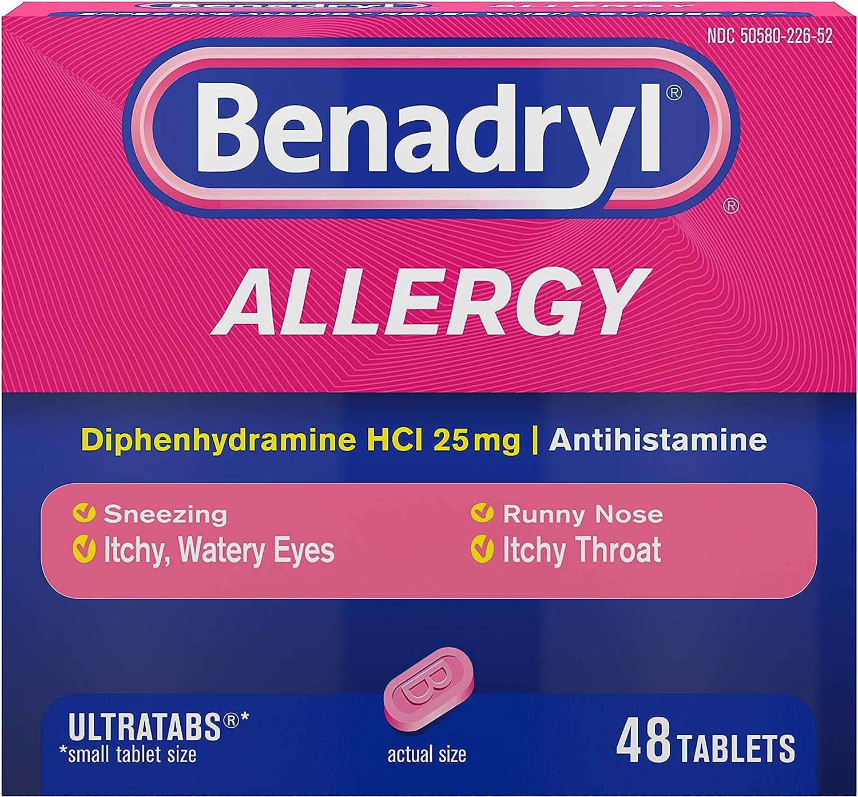 Benadryl Ultratabs Antihistamine Allergy…