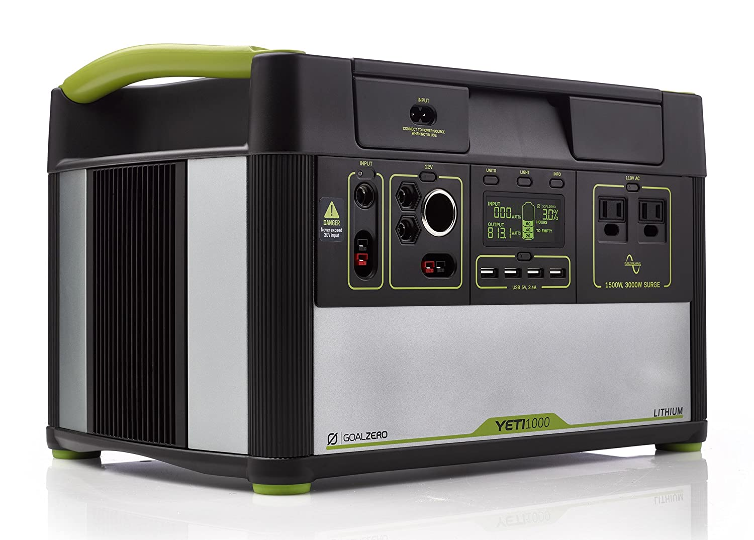 Goal Zero Yeti 1000 Lithium Portable Power Station, 1045Wh Silent Gas Free  Generator Alternative with 1500W (3000W Surge) Inverter, 12V and USB Outputs abaf584798