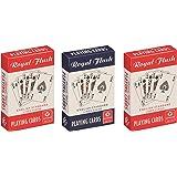 Cartamundi Royal Flush Naipes de diseño estándar (3Barajas), Color Rojo, Blanco y Azul