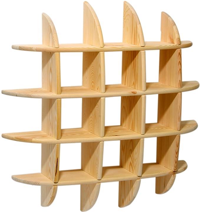 dobar 29700FSC Offenes Designer Wandregal zum Aufhängen, aus Holz ...