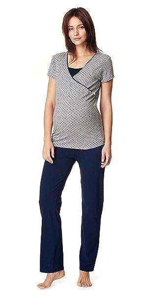 Noppies Lactancia Pijama Anika – 2 in1 sueño Camiseta + Pantalones Pijama Pijamas Pijama de Lactancia