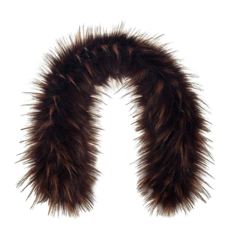 Futrzane Trim Hood Faux Fake Fur Hood Winter for Jacket Ski Collar Wrap Shawl Futrzane-obszycie