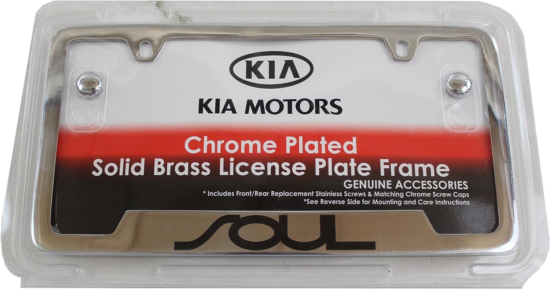 SOUL Stainless Steel Metal Black License Plate Frame Rust Free W// Caps