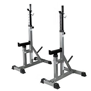 Outstanding Valor Fitness Bd Independent Bench Press And Squat Rack Stands With Adjustable Uprights And Safety Catches Bralicious Painted Fabric Chair Ideas Braliciousco