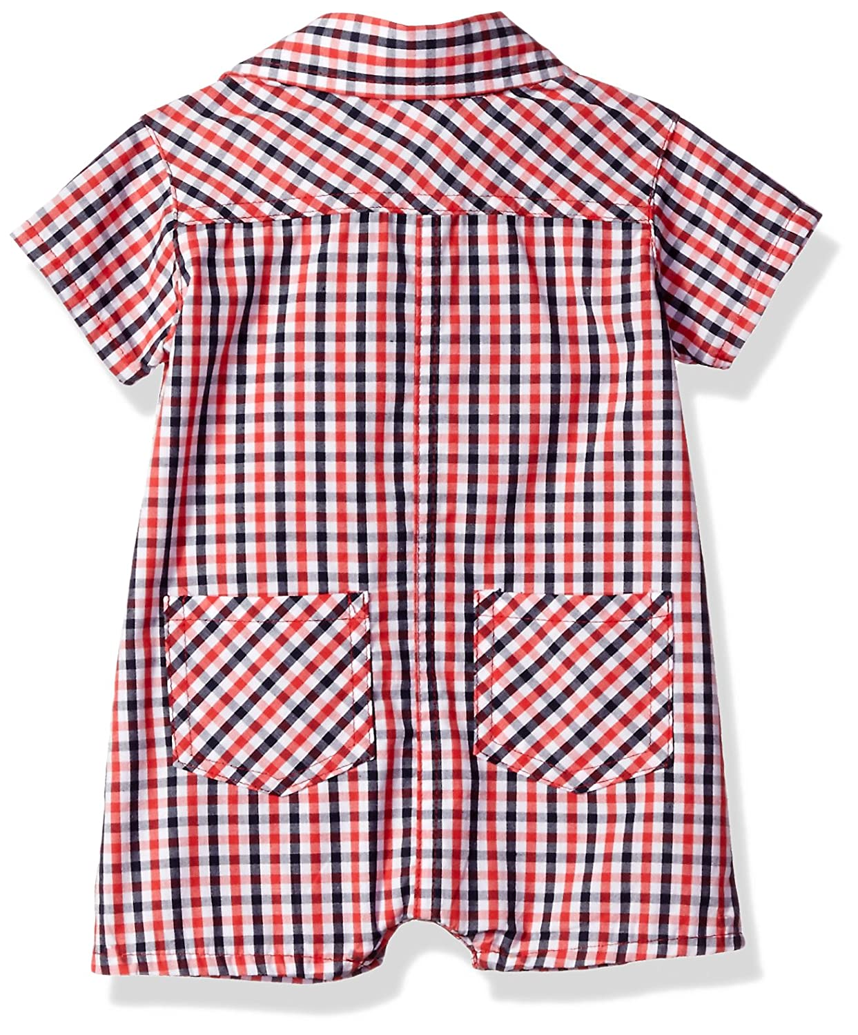 d1eb669b63f5 Amazon.com  U.S. Polo Assn. Baby Boys  Woven Romper