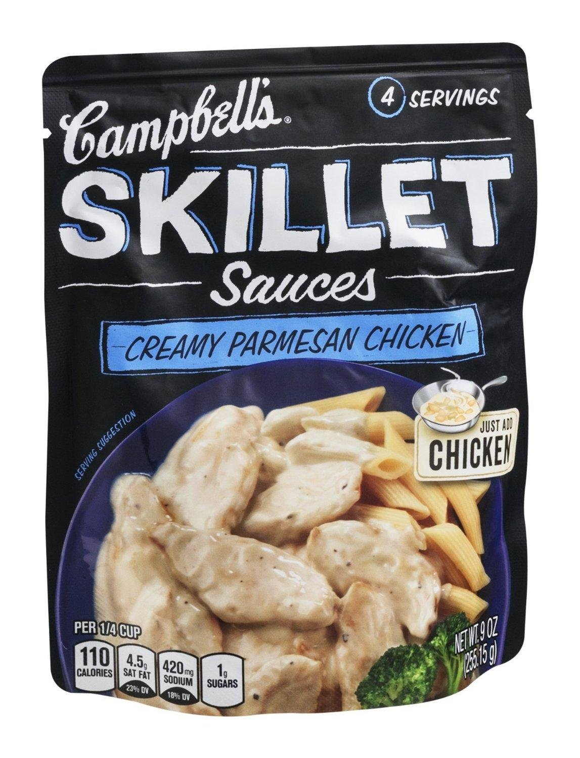 Campbell's Skillet Sauces: Creamy Parmesan Chicken (2 Pack) 9 oz Bags