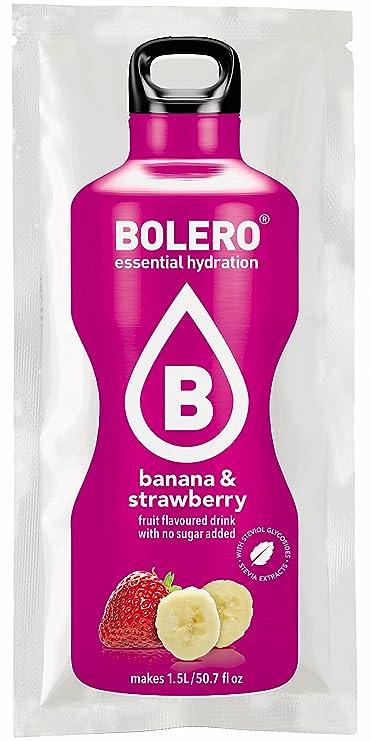 Bolero Preparado para Bebida, Sabor Banana Strawberry - 12 sobres: Amazon.es: Salud y cuidado personal