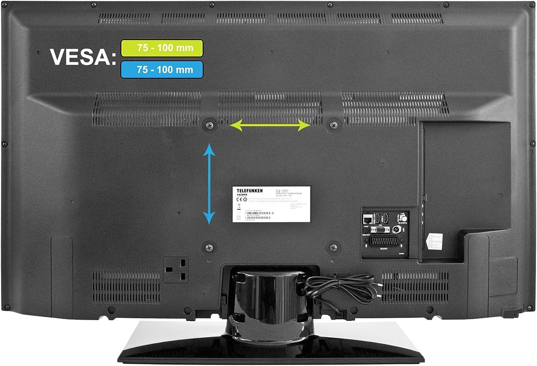 Soporte de Pared Telefunken WM705 (Adecuado para televisores de 10 – 26 Pulgadas, VESA máx. 100 x 100 mm, inclinable, orientable): Amazon.es: Electrónica