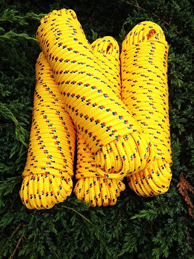 Nº 22 amarilla rocío de 6 mm x 30 m, Cordino, comba,, cuerda ...