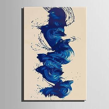 Dancing blau 100% handbemalt Home Decor Peinture à l\'huile Wall Art ...