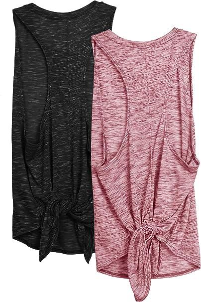 Amazon.com: icyzone - Camiseta de tirantes para mujer, para ...