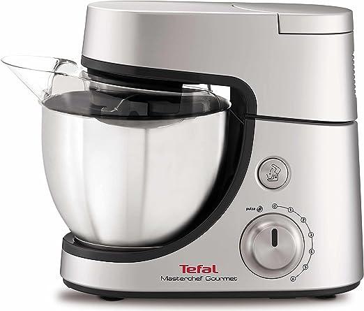 Tefal Masterchef Gourmet QB504D 900W 4.6L Gris, Plata - Robot de cocina (4,6 L, Gris, Plata, Giratorio, 1,5 L, Acero inoxidable, ABS): Amazon.es: Hogar