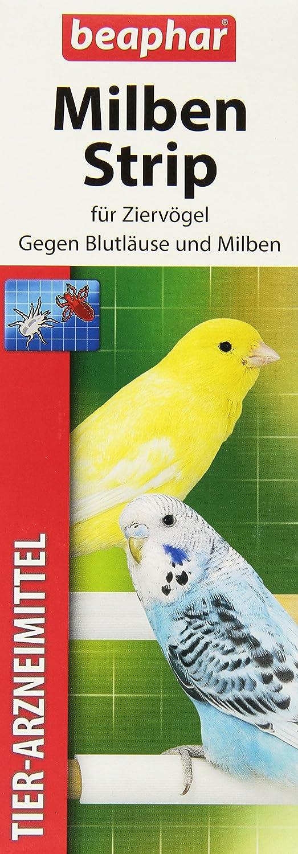 Milben Strip | Milbenschutz bei Wellensittichen & anderen Ziervögeln | Einfach an Vogel-Sitzstangen befestigen | 2 Milbenstrips Beaphar B.V. 75390