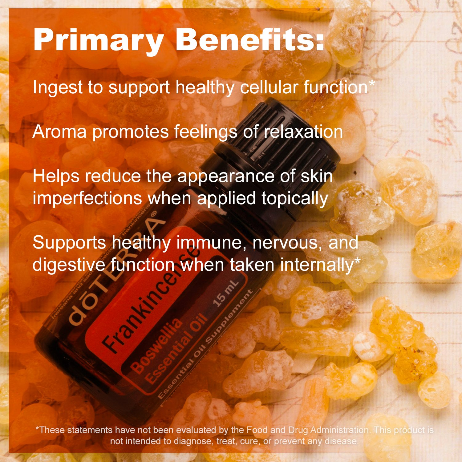 doTERRA Frankincense Essential Oil - Supports Healthy Cellular Function, Aroma Promotes Relaxing Feelings, Supports Healthy Immune and Nervous Function; For Diffusion, Internal, or Topical Use - 15 ml by DoTerra (Image #7)
