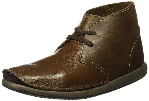 1e29f12d8ef30 Clarks Men s Dark Brown Leather Casual Sneakers - 8 UK  Buy Online ...