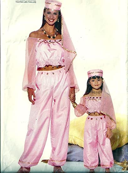Amazon.com: Butterick 6200 Misses and Girls Genie, Belly Dancer ...