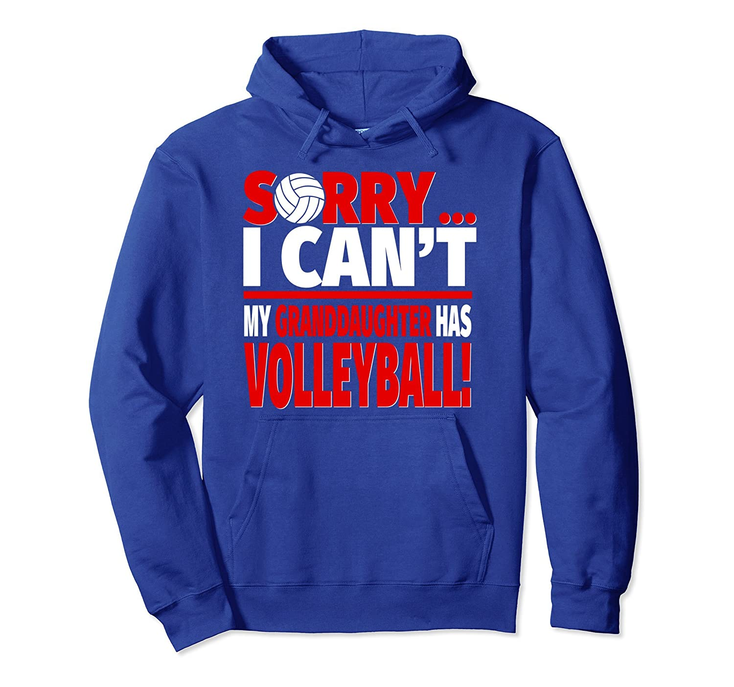 Sorry My Granddaughter Has Volleyball - Grandparent Hoodie-AZP