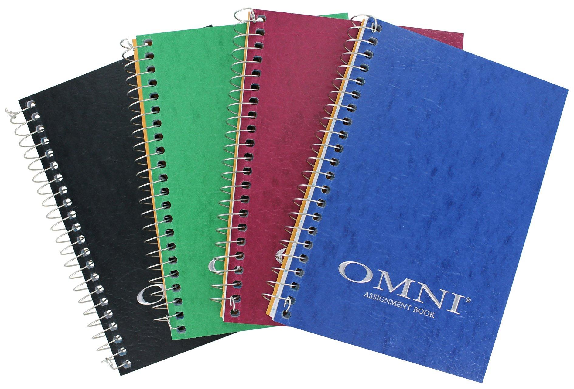 Norcom 77316-12 7'' x 5'' Omni Assignment Book Assorted Colors
