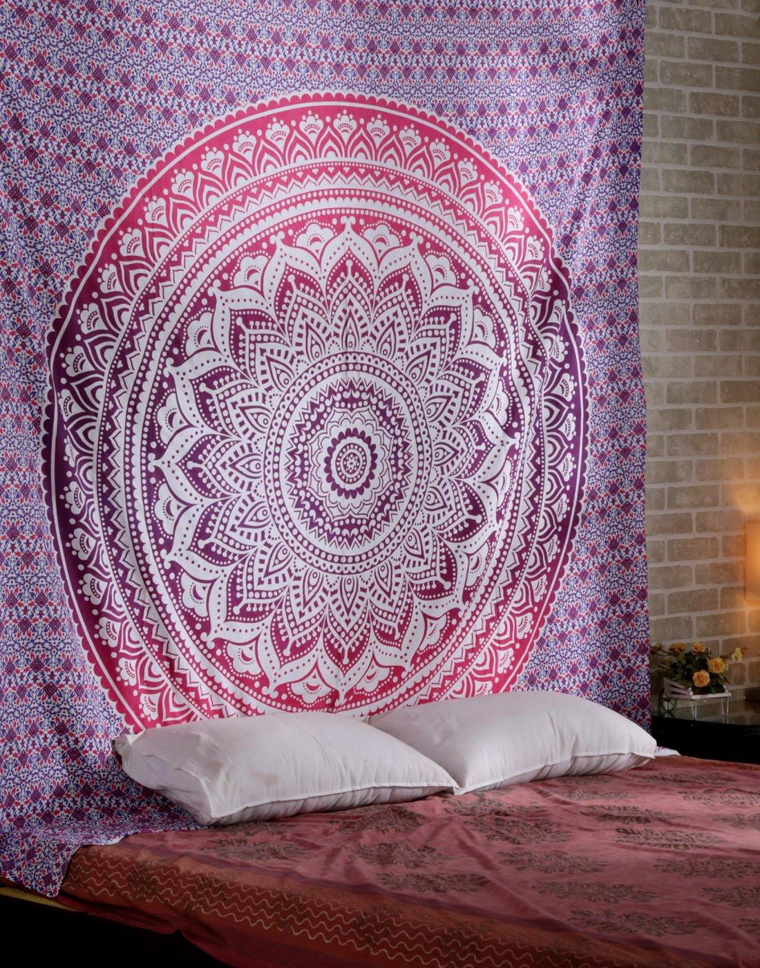 100/% coton indien fait /à la main hippie tapisseries tapisseries hippie Dortoir tapisseries Mandala tapisseries Floral Ombre Mandala tapisseries 228,6/&nbs Indian Tapisserie Tenture murale Tapisserie murale Tenture murale Bohemian tapisseries