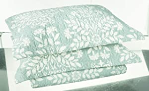 Laura Ashley Rowland Blue Quilt Set, Full/Queen