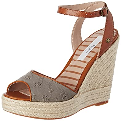 Pepe Jeans London Damen Walker Anglaise 17 Sandalen, Grün (Iron), 38 EU fb22956779