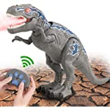 FANURY Remote Control Dinosaur Toys for 3-12 Year Old Boys Girls, LED Light Up Walking and Roaring Realistic T-Rex Dinosaur T