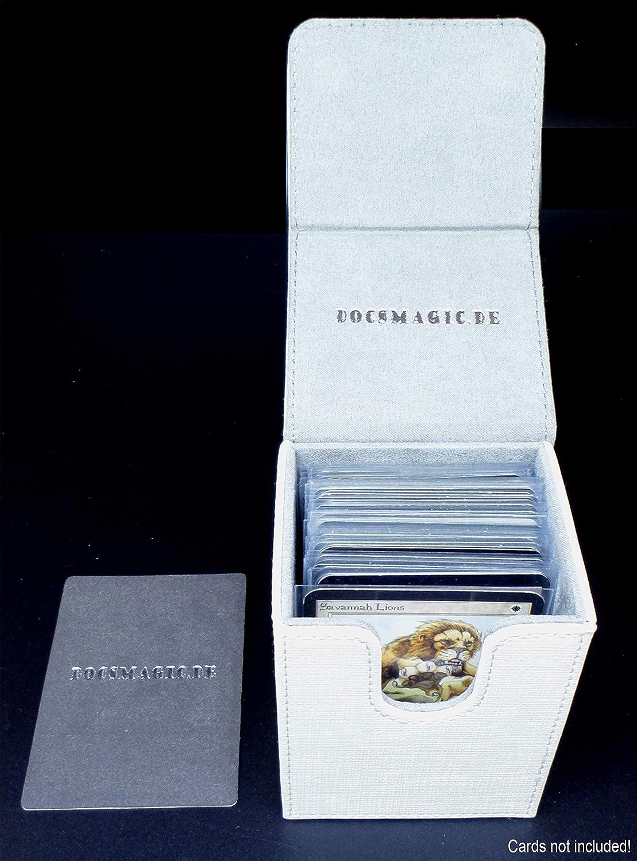 80 docsmagic.de Premium Magnetic Flip Box White Porta Mazzo Bianco MTG PKM YGO Deck Divider