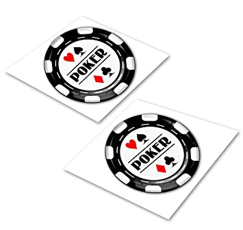 2 X Aufkleber 3d Gel Silikon Stickers Sport Spiel Kasino