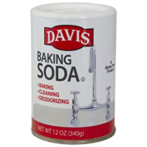 Davis Baking Soda - For Cooking, Baking, Cleaning, Laundry, Deodorizing and More, Resealable Can, Highest Purity Sodium Bicarbonate, Food Grade, Gluten Free, Vegan and Vegetarian - 12 oz can (1)